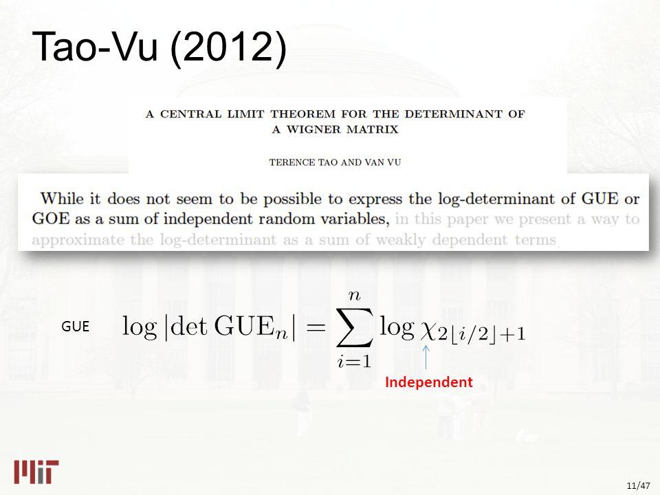 11/47 Tao-Vu (2012) GUE Independent