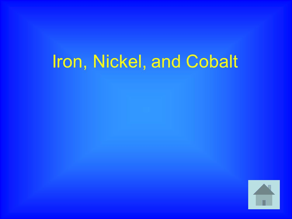 Iron, Nickel, and Cobalt