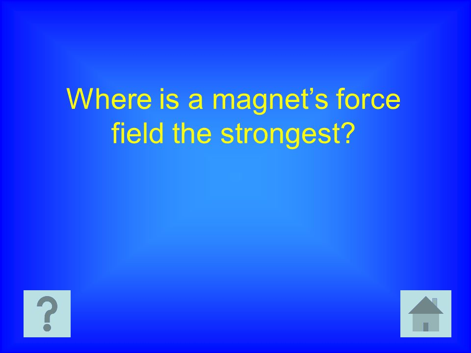 Where is a magnet's force field the strongest