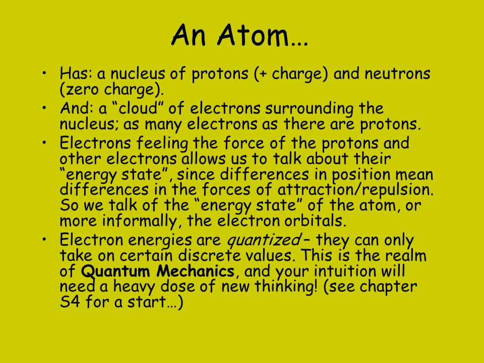 Different Proton # Attracts Different Electron Number, Means Different Chemistry, So We Give Different Names… Hydrogen – 1 proton.