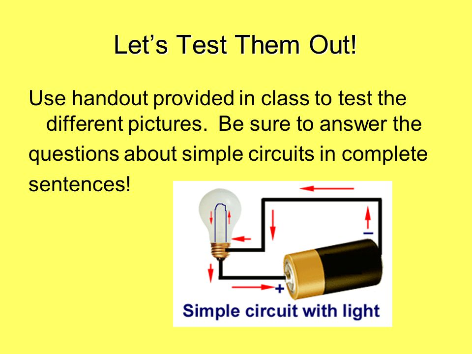 Let's Test Them Out.Use handout provided in class to test the different pictures.