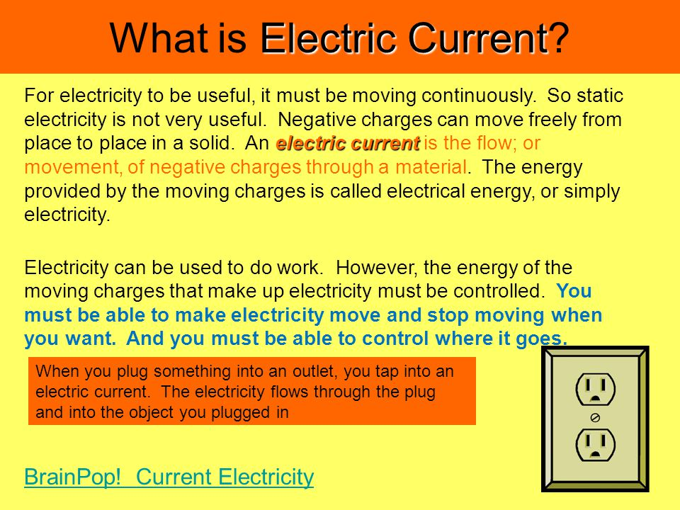 Electric Current What is Electric Current.