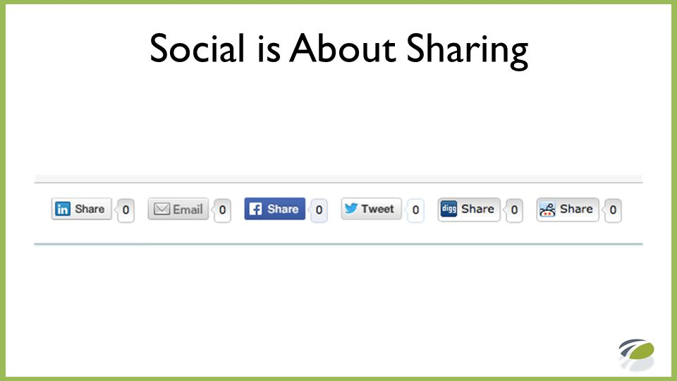 Social is About Sharing