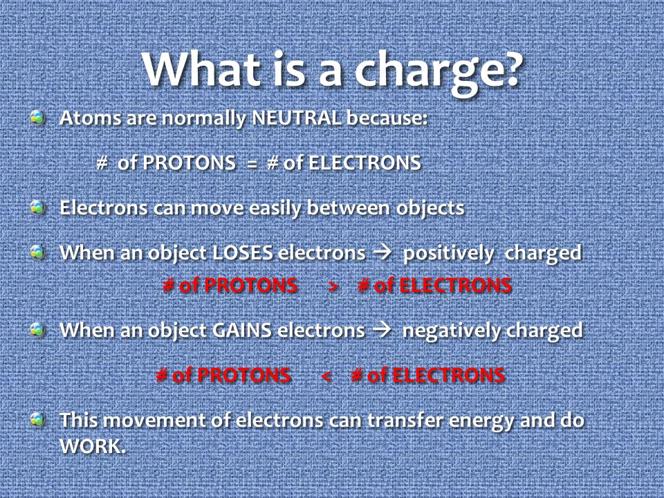 What is a charge.