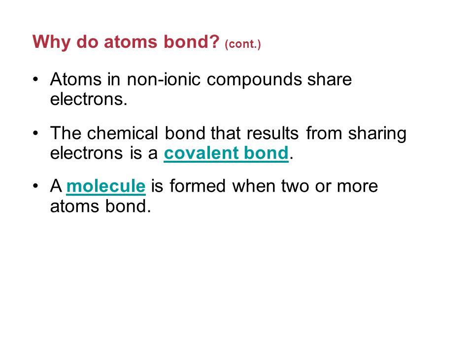 Single Covalent Bonds (cont.) Atoms in group 15 form three single covalent bonds, such as in ammonia.