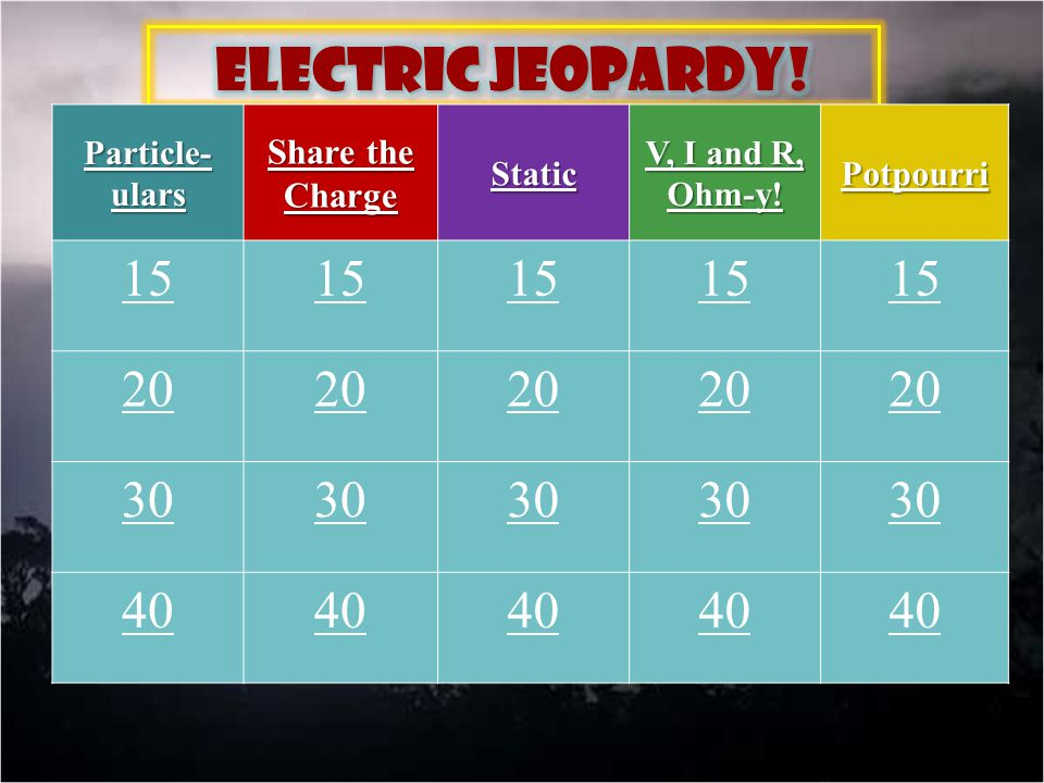 Electric Jeopardy!