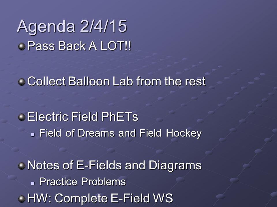 Agenda 2/4/15 Pass Back A LOT!.