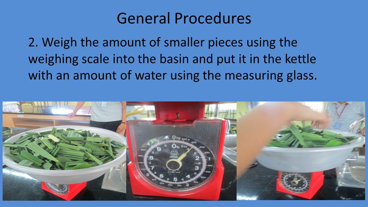 General Procedures 2.