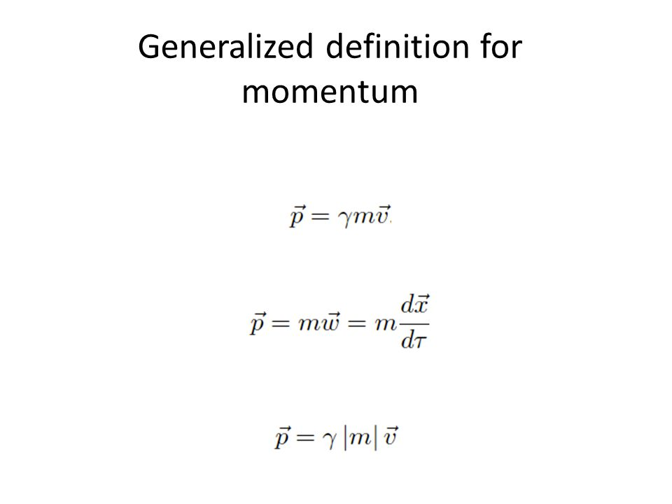 Generalized definition for momentum