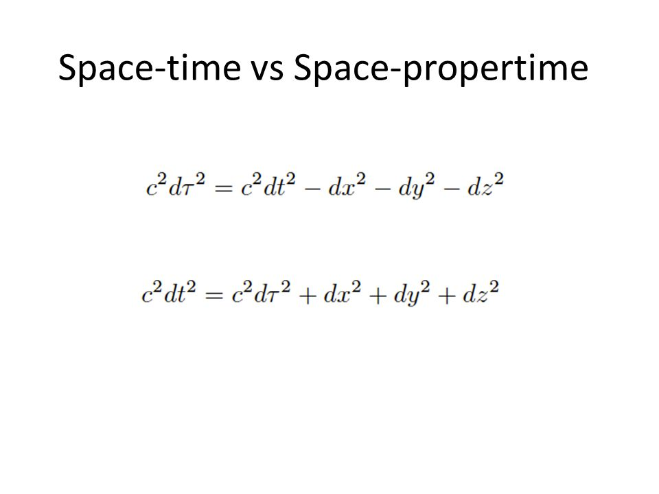 Space-time vs Space-propertime