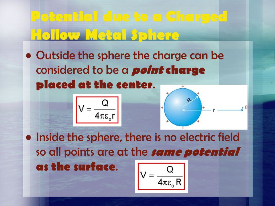Cutnell & Johnson, Wiley Publishing, Physics 5 th Ed. Voltage & Electric Field This relationship implies that when the potential is constant then the