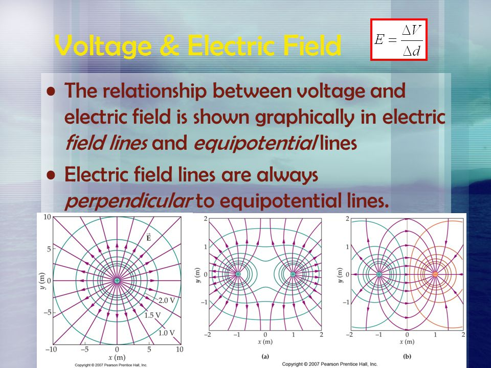 Equipotential Lines Moving along Equipotential Lines Moving between Equipotential Lines