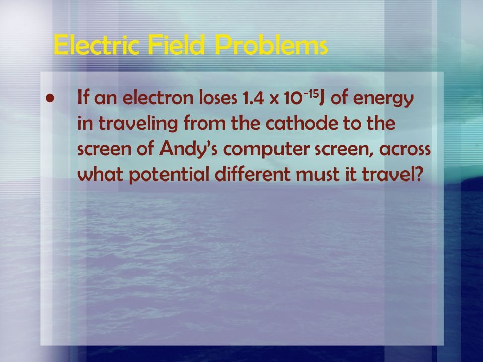 A force of.032 N is required to move a charge of 4.2 x 10 -6 C in an electric field between two points which are.25 m apart. What is the potential dif