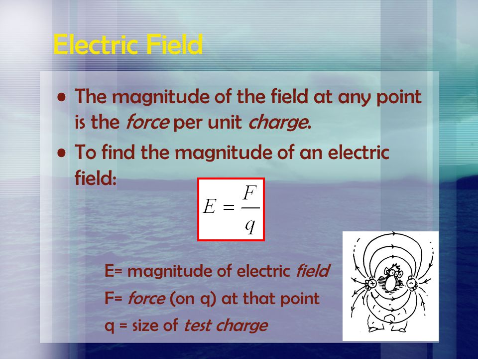 Electric Field Michael Faraday developed the concept of electric fields in the early 1800's. The space around every electrically charged body is fille