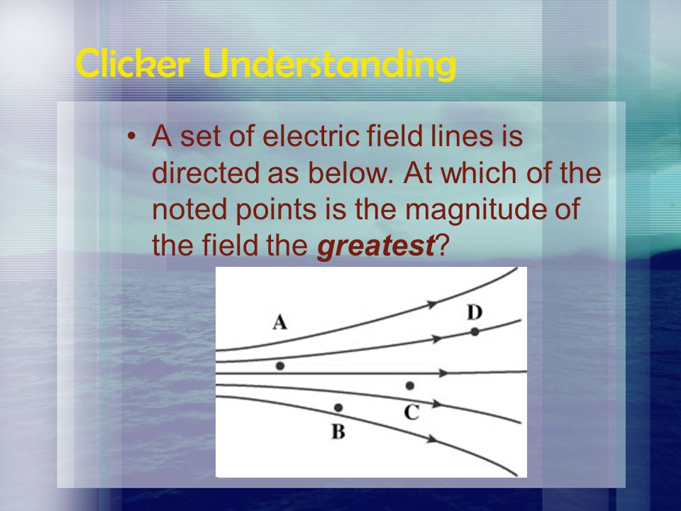 Electric Fields The electric fields around two charges interact with each other. Draw lines of force around the following pairs of charged spheres: –T