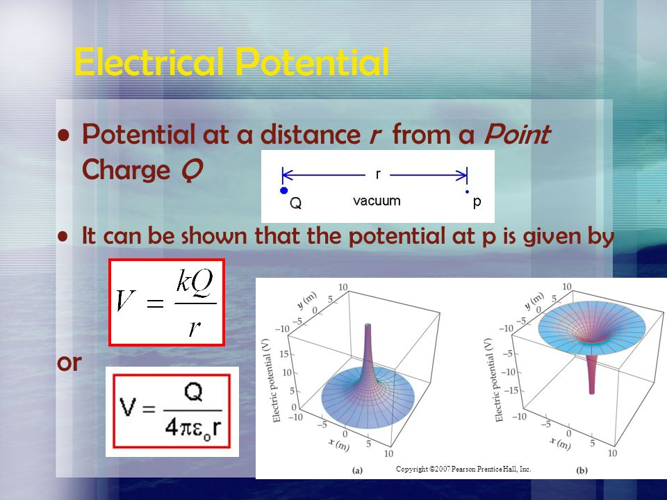 The equation for calculating voltage is: symbolsunits V =voltage(V) W =Work (or electric PE)(J) Q =charge (C) Since work done on a charge and the gain