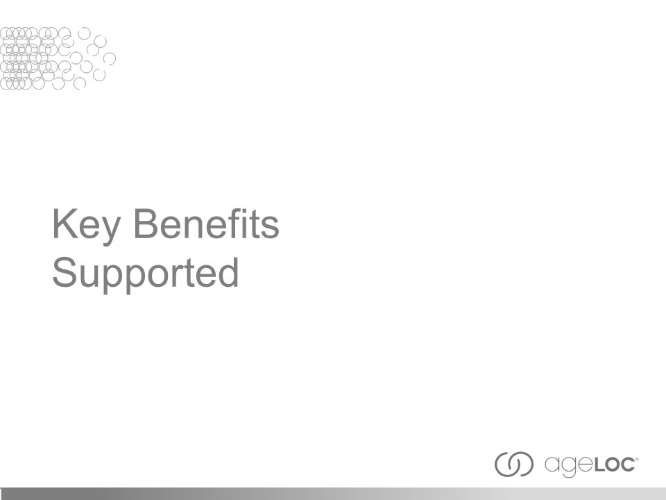 Key Benefits Supported