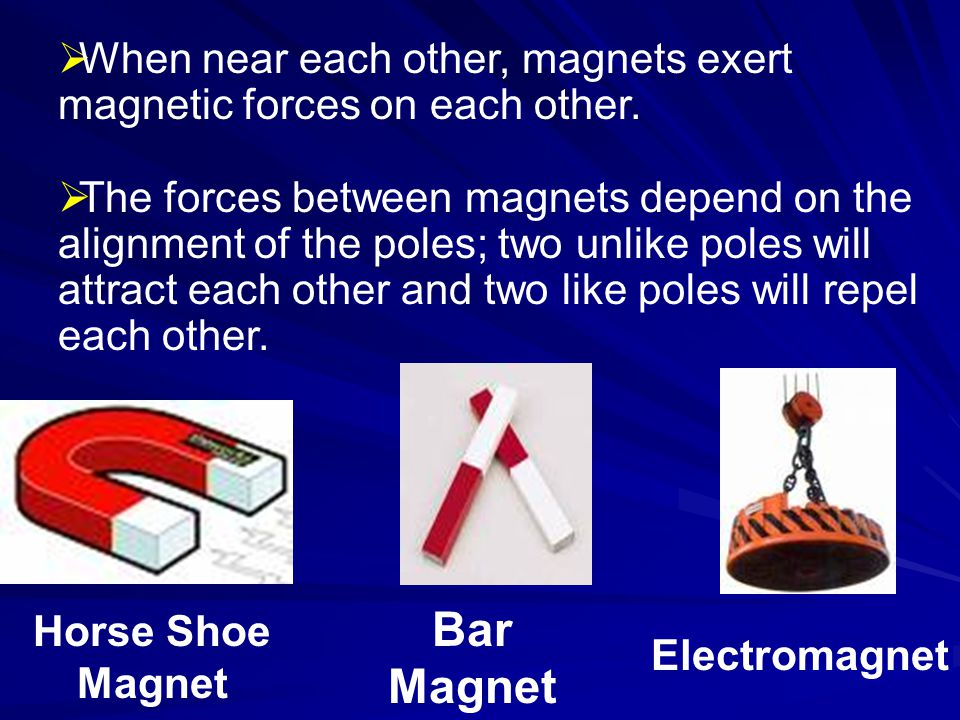 QUESTION.What does the force between two magnets depend on.