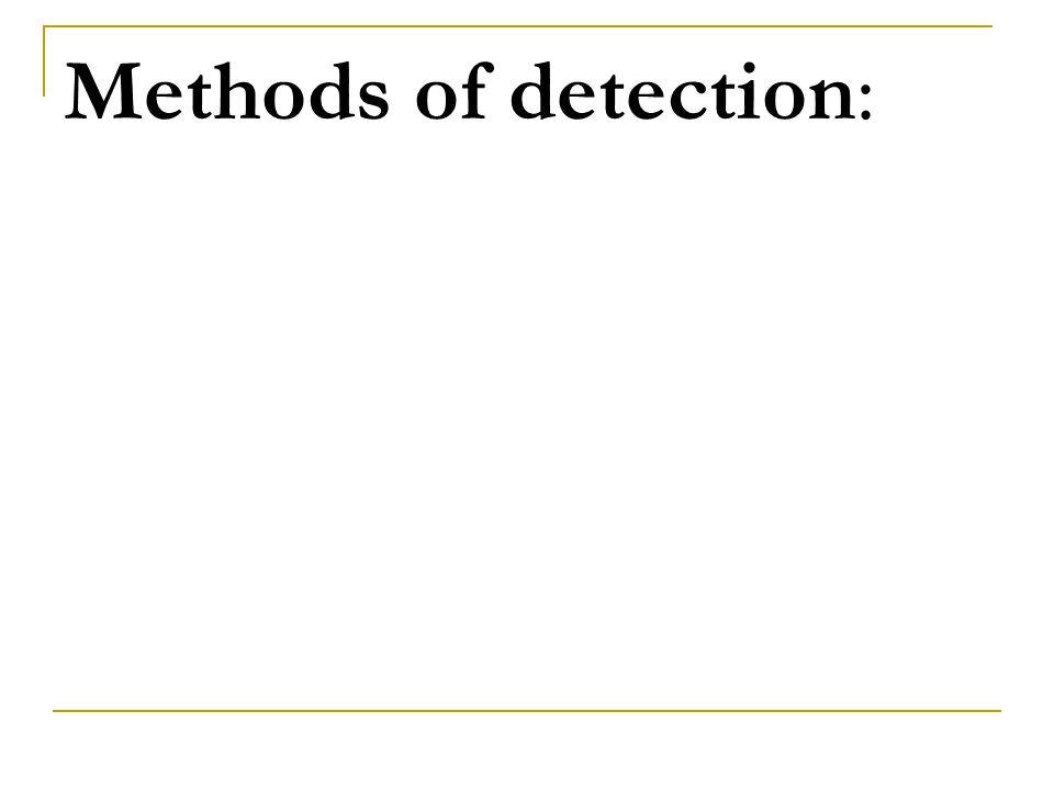 Methods of detection: