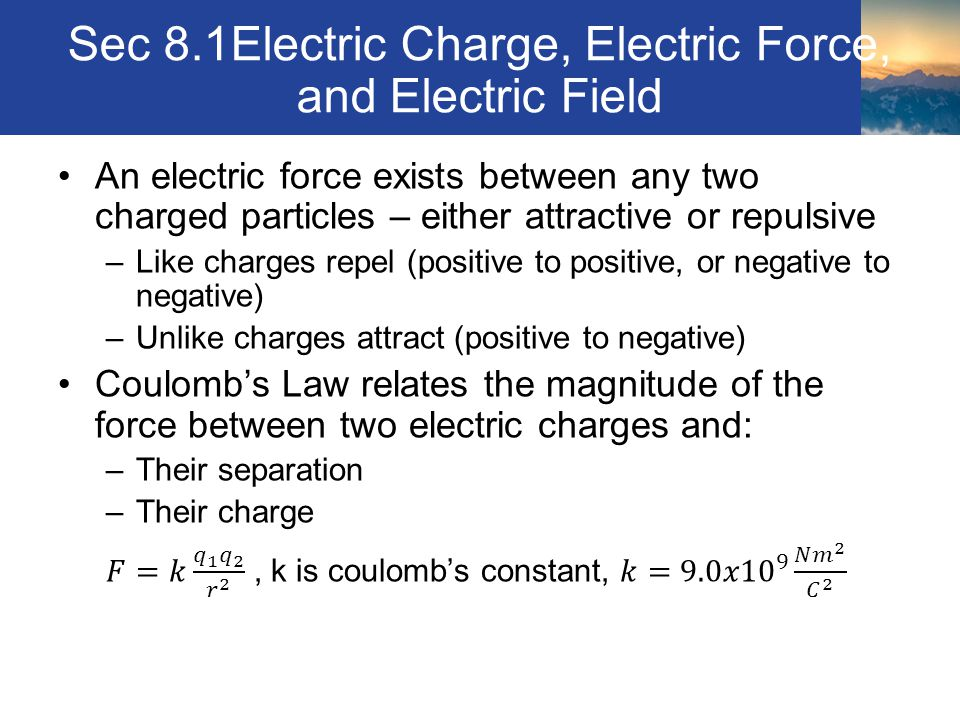 Sec 8.1Electric Charge, Electric Force, and Electric Field Coulomb's apparatus