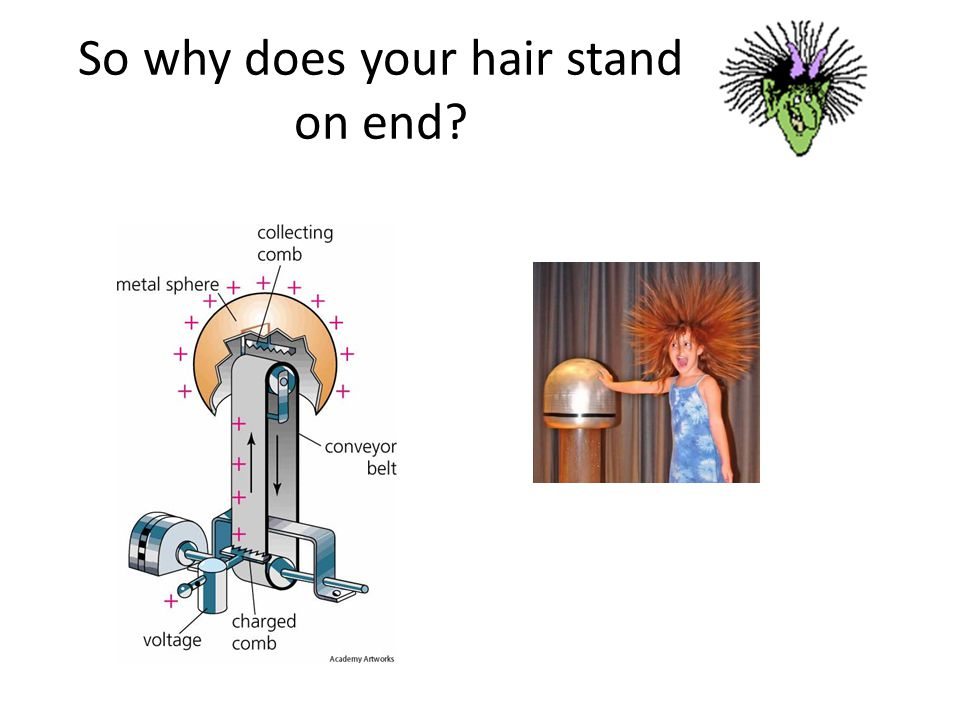 So why does your hair stand on end?