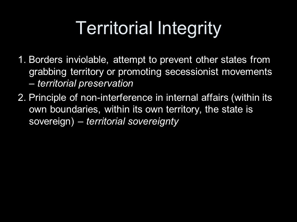 Territorial Integrity 1.