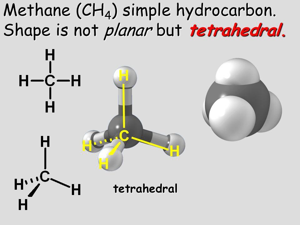C H H H H tetrahedral