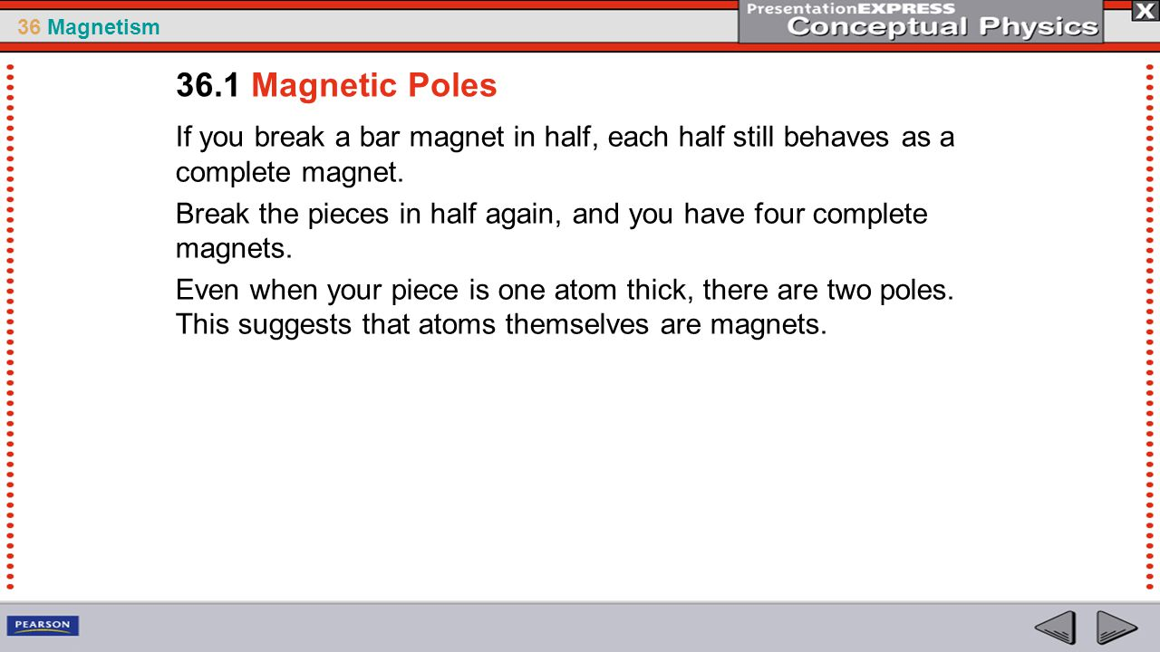 36 Magnetism Electrons in Motion Where is the motion of electric charges in a common bar magnet.