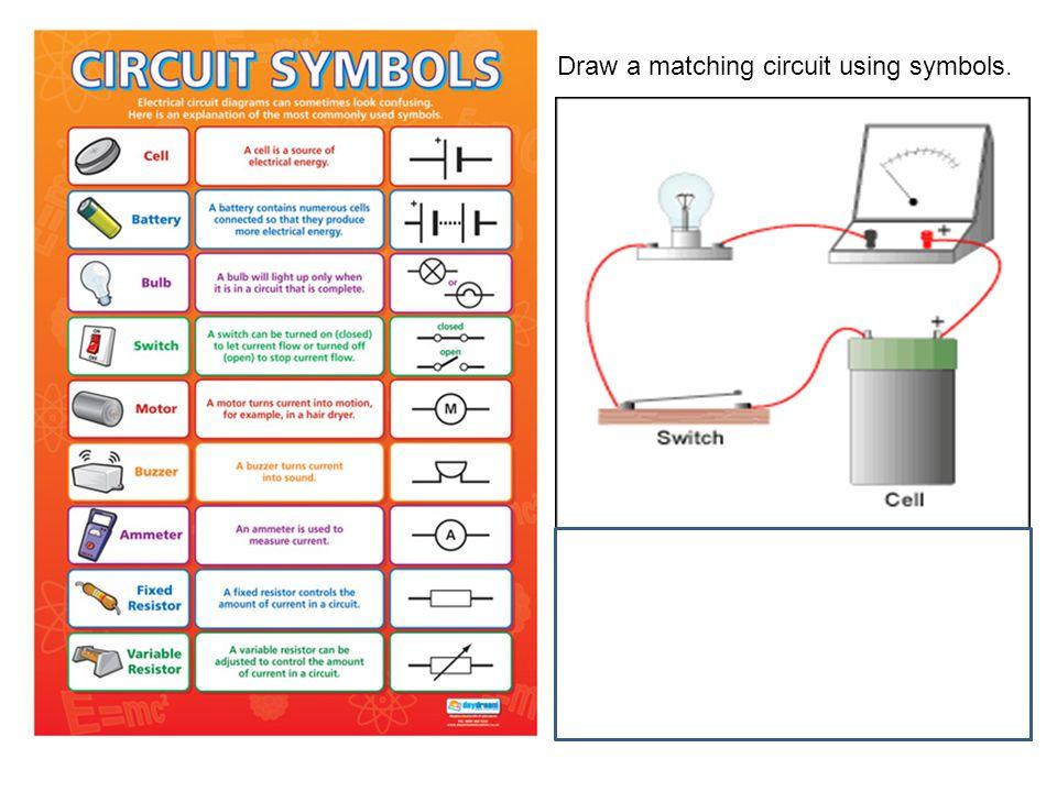 Draw a matching circuit using symbols.