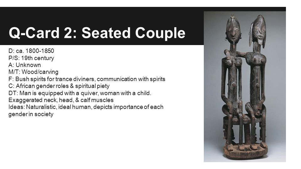 Q-Card 2: Seated Couple D: ca.