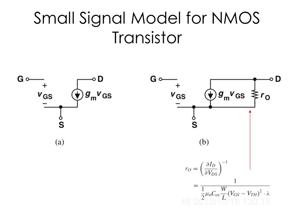 Small Signal Model for NMOS Transistor