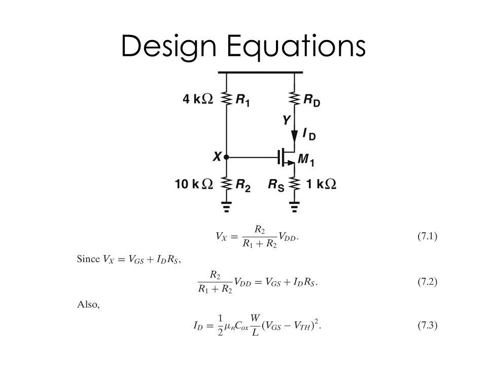Design Equations