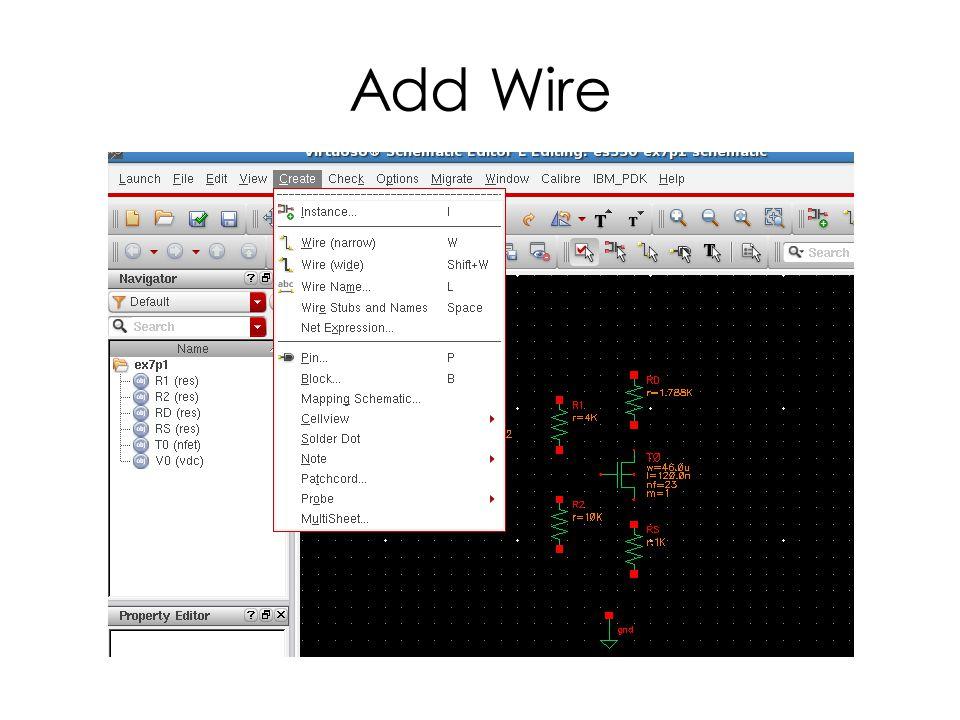 Add Wire