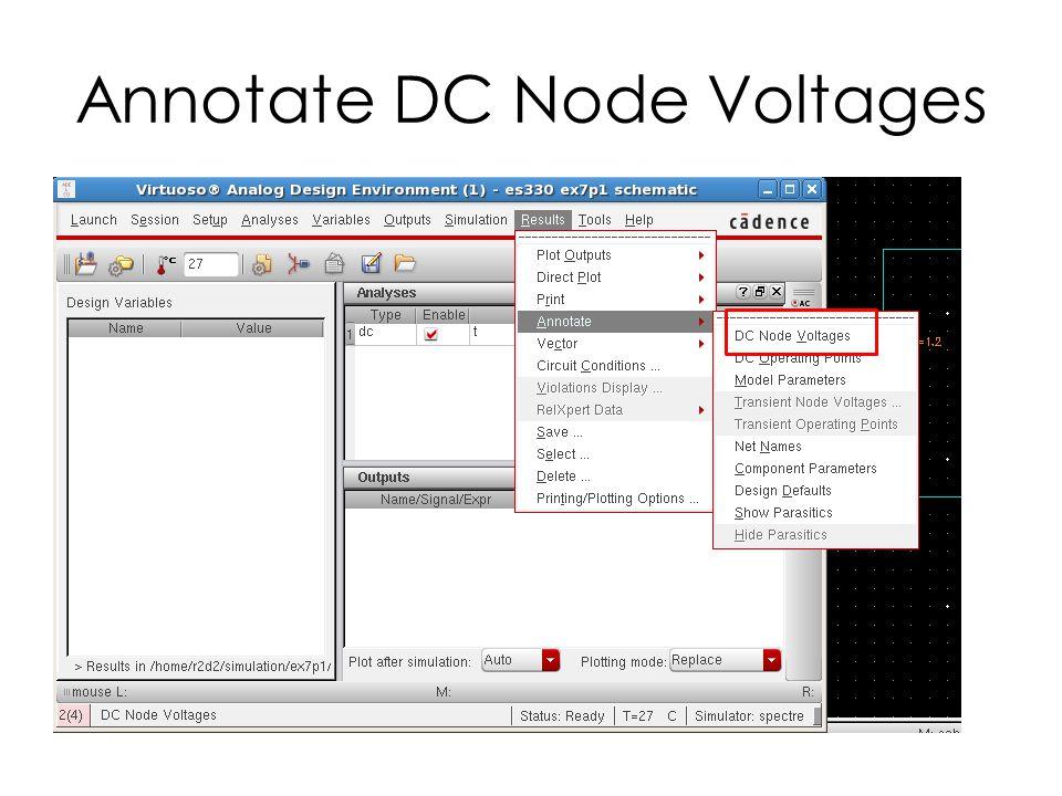 Annotate DC Node Voltages