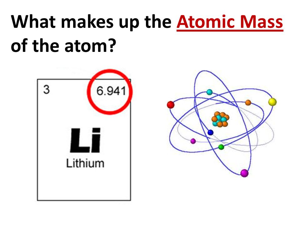What makes up the Atomic Mass of the atom