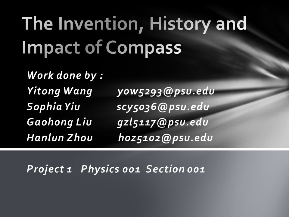 The invention of Compass certainly has some significant impacts on human's world and society.