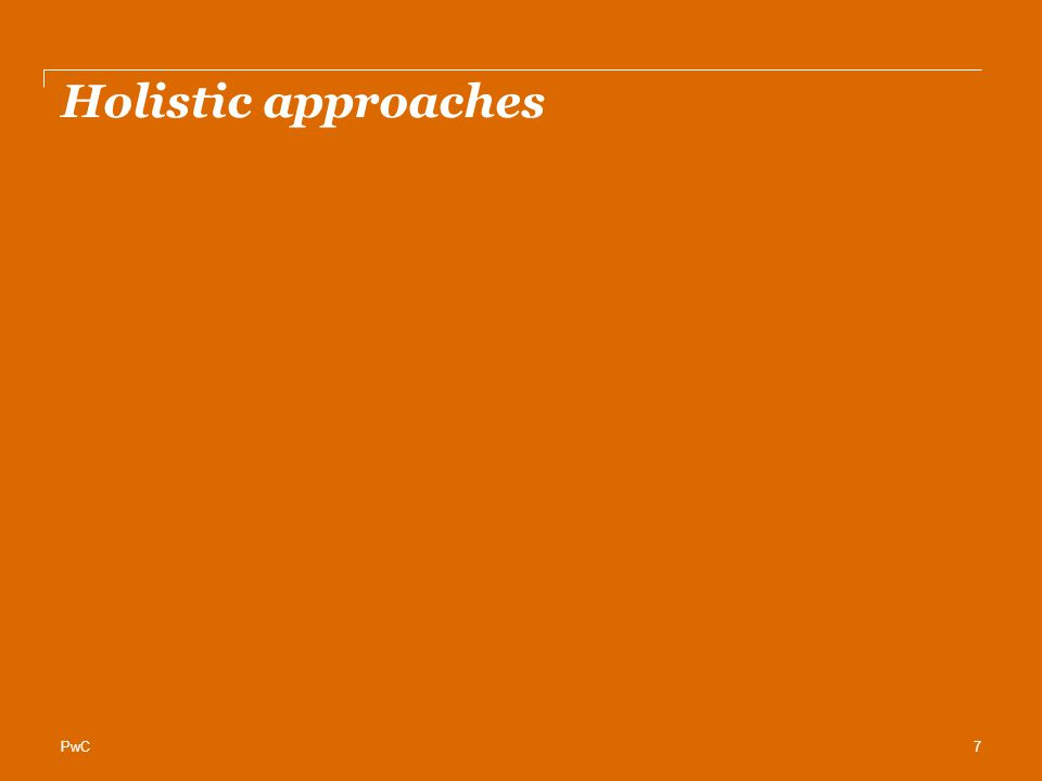 PwC Holistic approaches 7