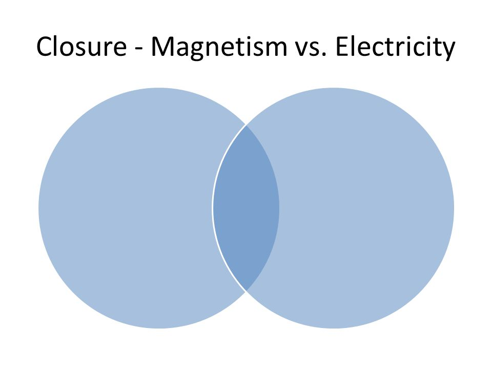 Closure - Magnetism vs. Electricity