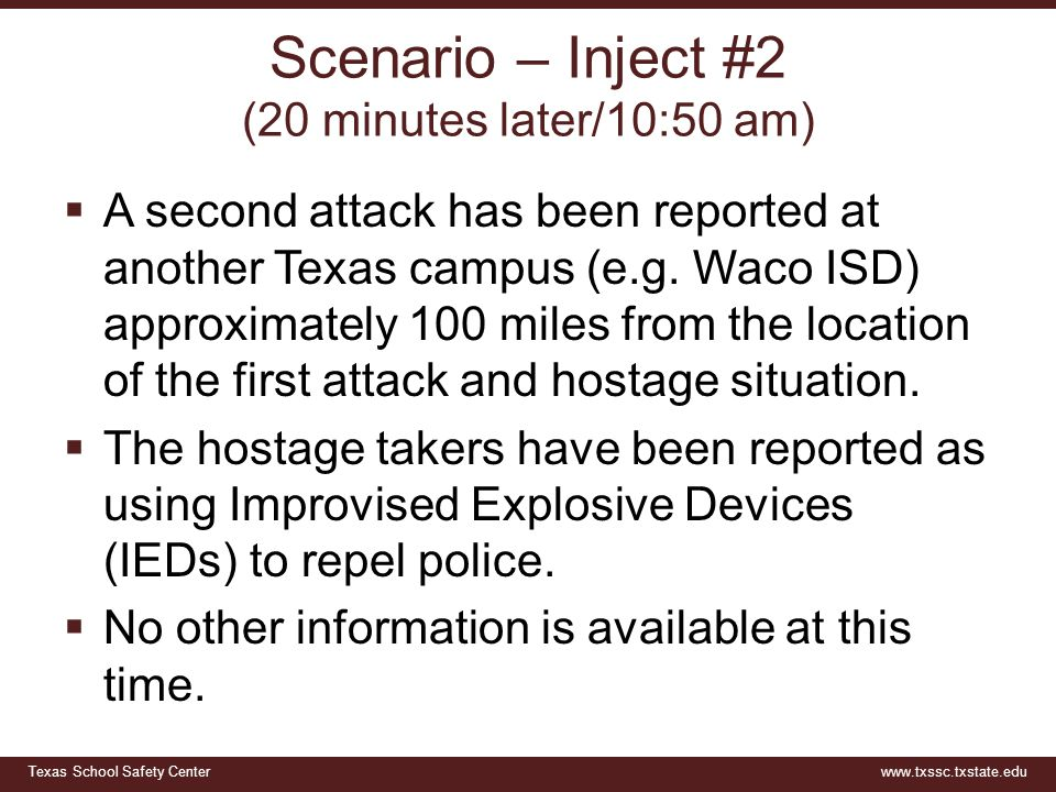 Texas School Safety Centerwww.txssc.txstate.edu Questions  What do you need to know.