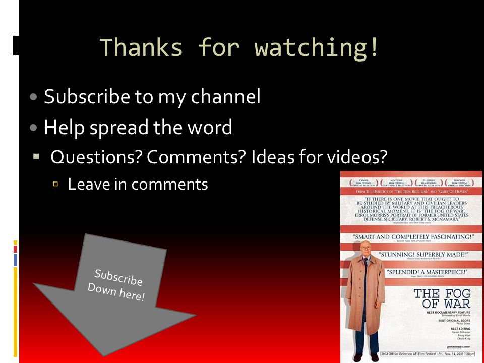 Thanks for watching. Subscribe to my channel Help spread the word  Questions.