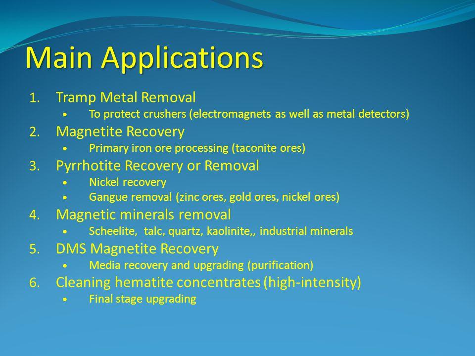 Main Applications 1.