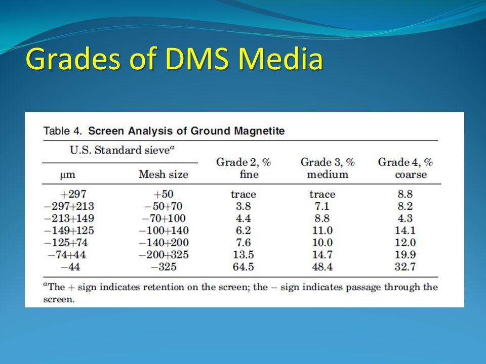 Grades of DMS Media
