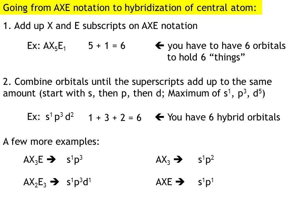 O H H Trigonal planarbent Trigonal pyramidal AX 3 AX 2 E AX 3 EAX 2 E 2
