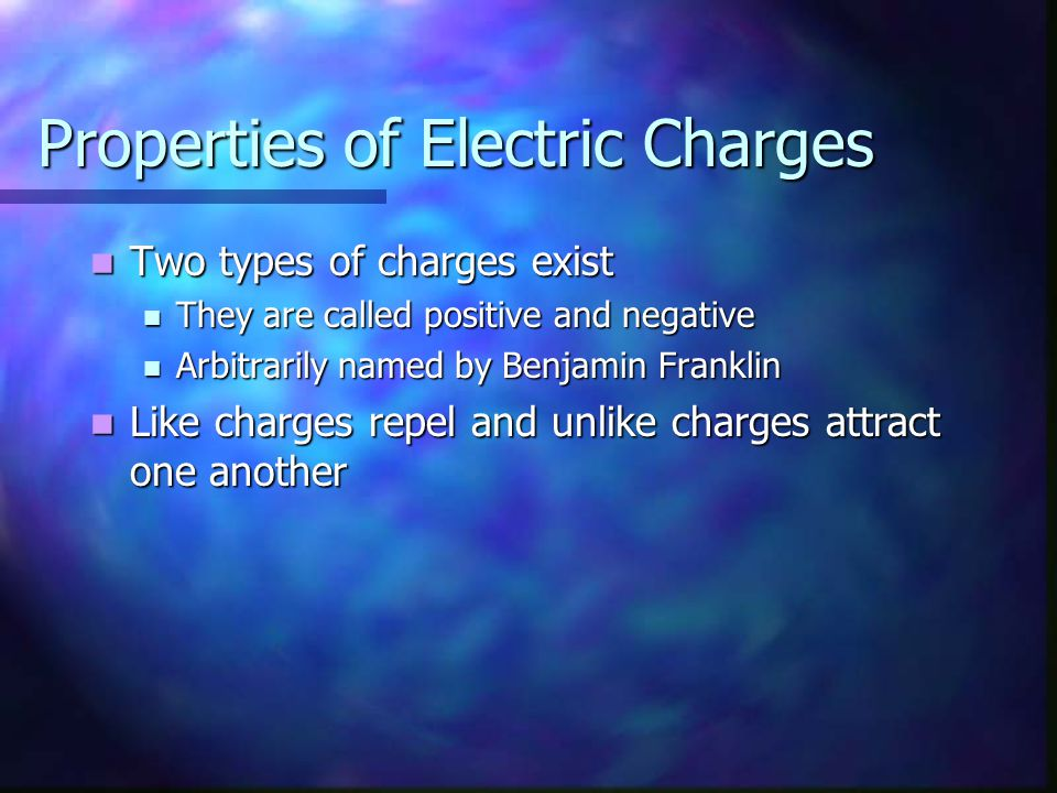 Electron - + A positive test charge would be attracted by the field