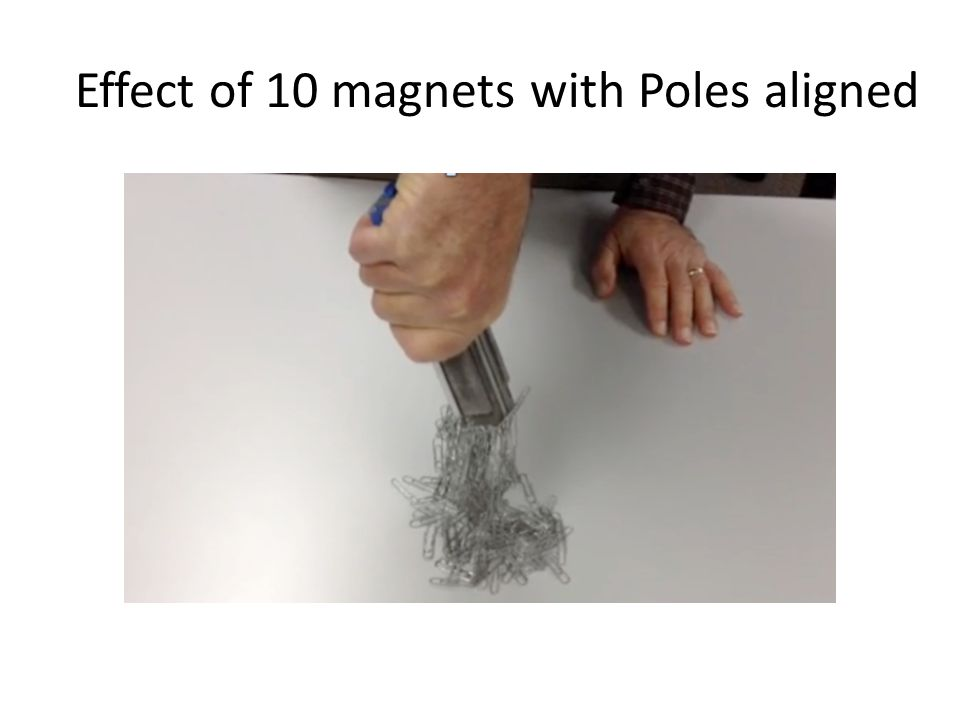 Effect of 10 magnets with Poles aligned