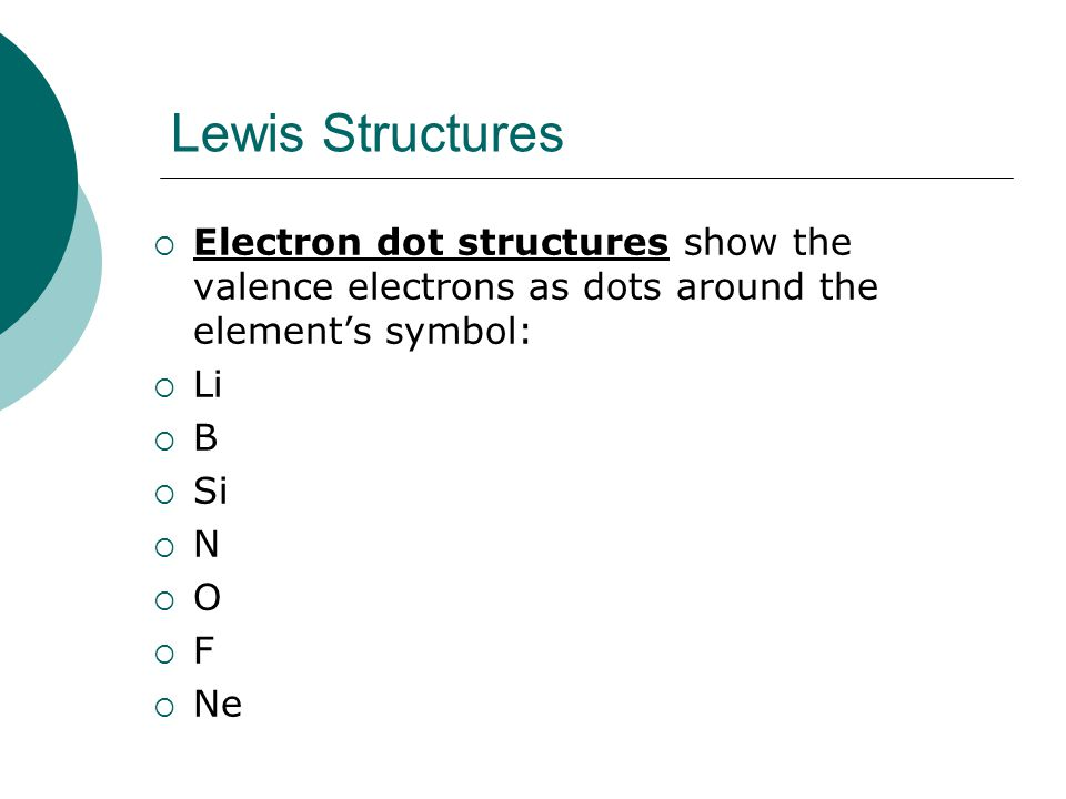 Writing Lewis Structures 1) Select a skeleton for the molecule (the least electronegative element is usually the central element).