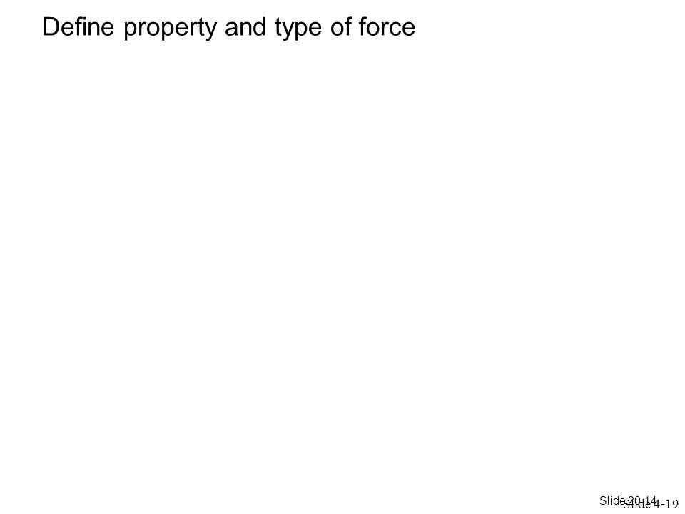 Slide 20-14 Define property and type of force Slide 4-19