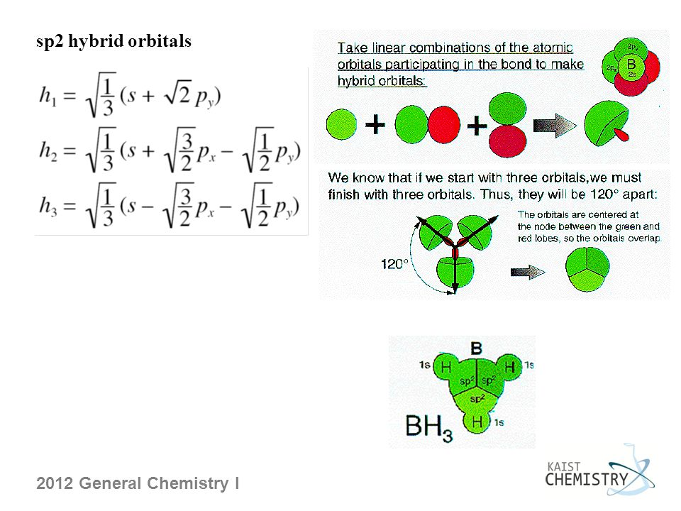 2012 General Chemistry I sp2 hybrid orbitals