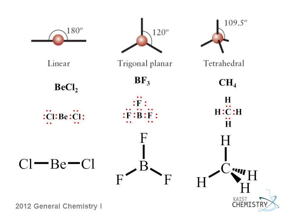 2012 General Chemistry I BF 3 BeCl 2 CH 4