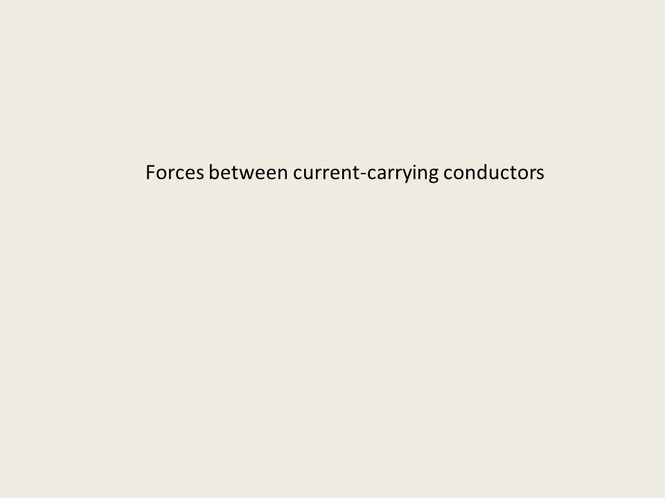 Forces between current-carrying conductors